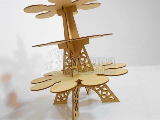 Base para cupcakes con el tema torre eiffel
