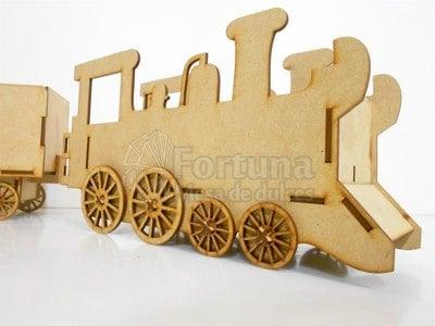 Miniatura de tren dulcero para mesa de postres