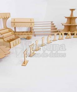 Kit de accesorios y muebles para mesa de postres