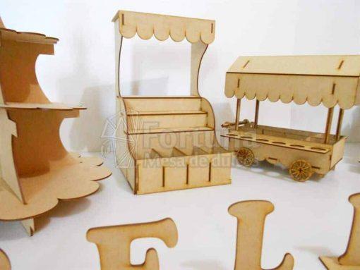 Kiosco dulcero para mesa de postres