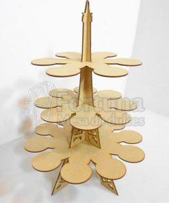 Torre eiffel base decorativa para cupcakes
