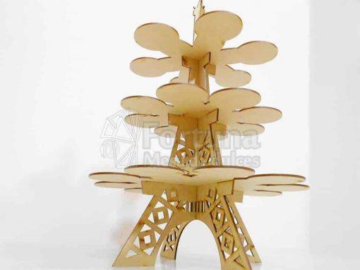 Torre Eiffel como base para cupcakes