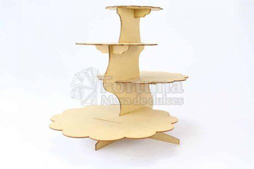 Base para cupcakes desfasada uso ideal en mesa de dulces para bodas
