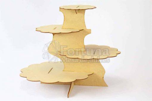 Base desfasada para cupcakes ideal para mesa de postres para xv años