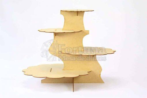 Base desfasada para cupcakes que puedes usar en mesa de postres para boda