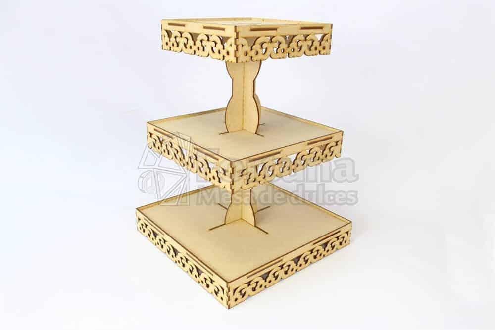 Base para cupcakes charolas florales mesa de dulces fortuna - Bases para cupcakes ...