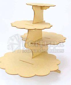 Base para cupcakes ideal para uso en mesa de dulces para bodas