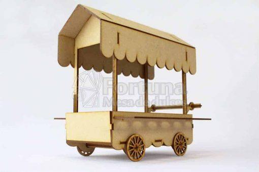 Accesorio para mesa de dulces carrito dulcero con porta conos