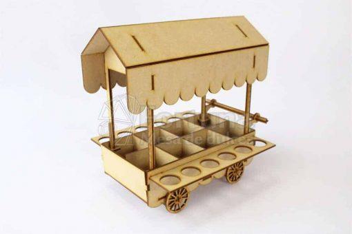 Carrito dulcero con porta conos el accesorio ideal para tu mesa de postres