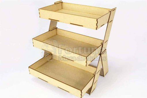 Charolas para mesa de dulces en forma de escalera