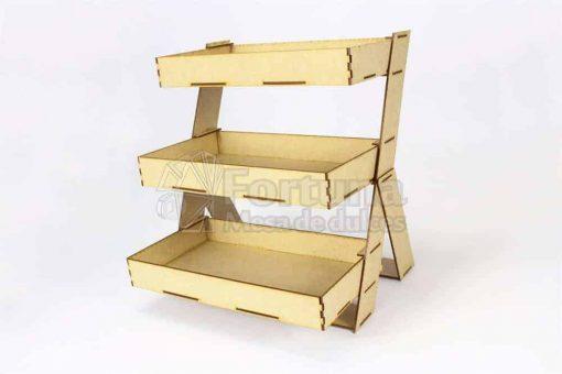 Escalera de charolas para mesa de dulces o postres