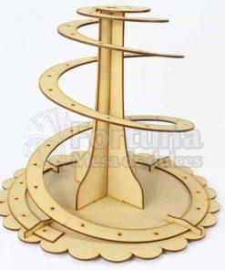 Espiral de paletas mueble para mesa de dulces