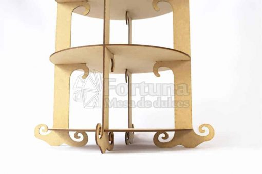 Base para cupcakes en forma de jaula