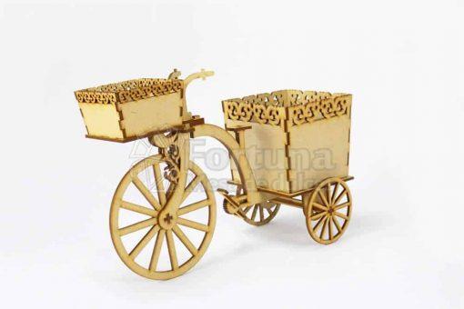 Triciclo para adornar mesa de dulces