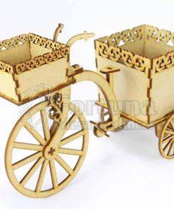 Centro de mesa tipo triciclo