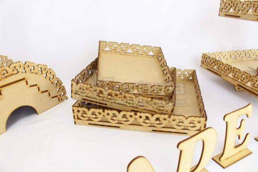 opciones para ordenar dulces y postres con estas charolas para mesa de dulces para boda.