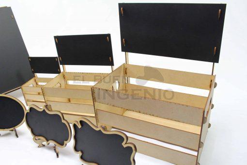 mesa de dulces pizarrones huacales y letreros