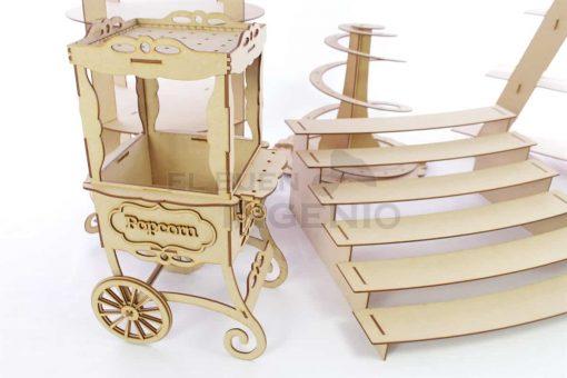 mesa de dulces carrito palomitas