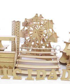 mesa de dulces rueda de la fortuna gigante