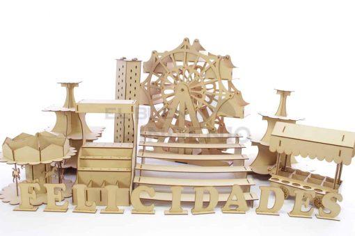 mesa de dulces rueda de la fortuna gigante kit
