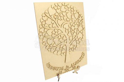 arbol de firmas madera